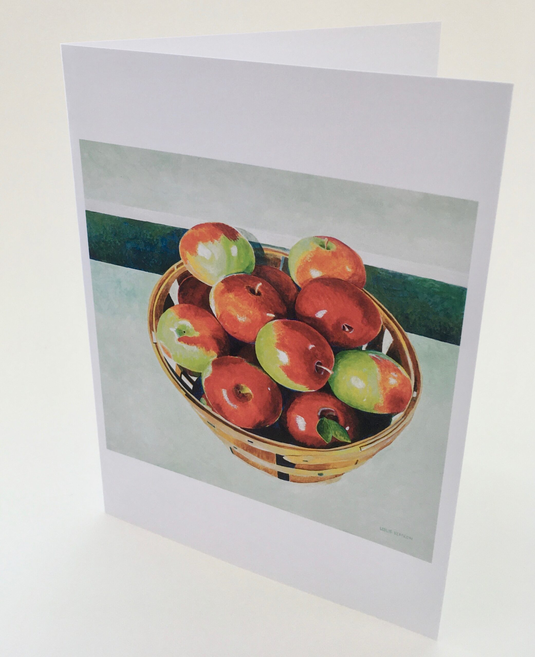 Notecards by Leslie Heffron, Bushel of Apples