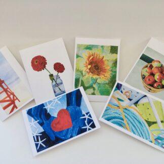 Paintings by Leslie Heffron, Fine Art Note Cards