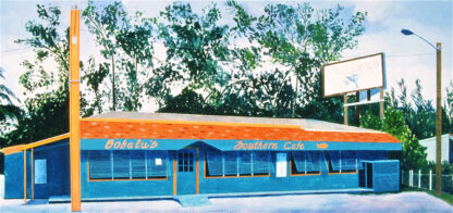 "Paintings by Leslie Heffron, ""Bobalu's Southern Cafe"""
