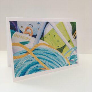 "Notecards by Leslie Heffron, ""Buoys, Line, Flag"""