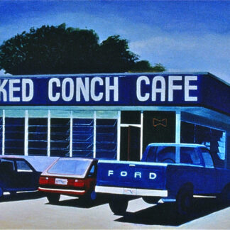 "Paintings by Leslie Heffron, ""Cracked Conch Cafe"""