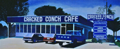 """Paintings by Leslie Heffron, """"Cracked Conch Cafe"""""""