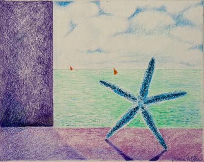 Paintings by Leslie, Dancing Sea Star