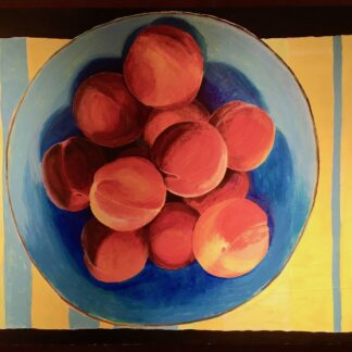Paintings by Leslie, Farm Fresh Peaches