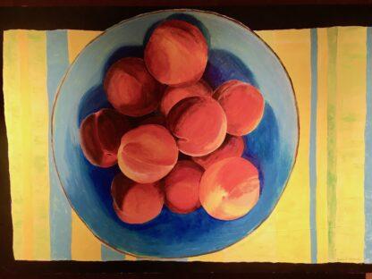 Paintings by Leslie, Farm Fresh Peaches