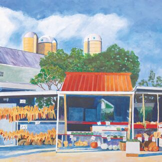Paintings by Leslie Heffron, Farm Stand, Late Afternoon