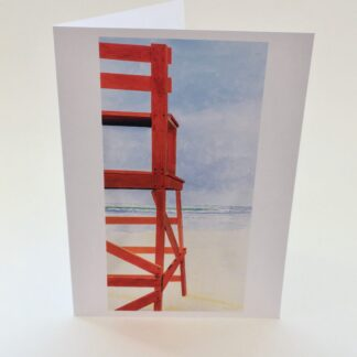Note Cards by Leslie Heffron, Good Harbor Beach Lifeguard Chair