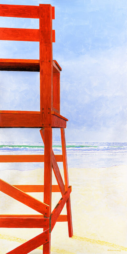 "Paintings by Leslie, ""Good Harbor Lifeguard Chair"