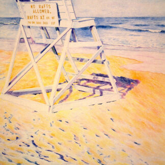 Paintings by Leslie Heffron, Guard Chair, Late Afternoon