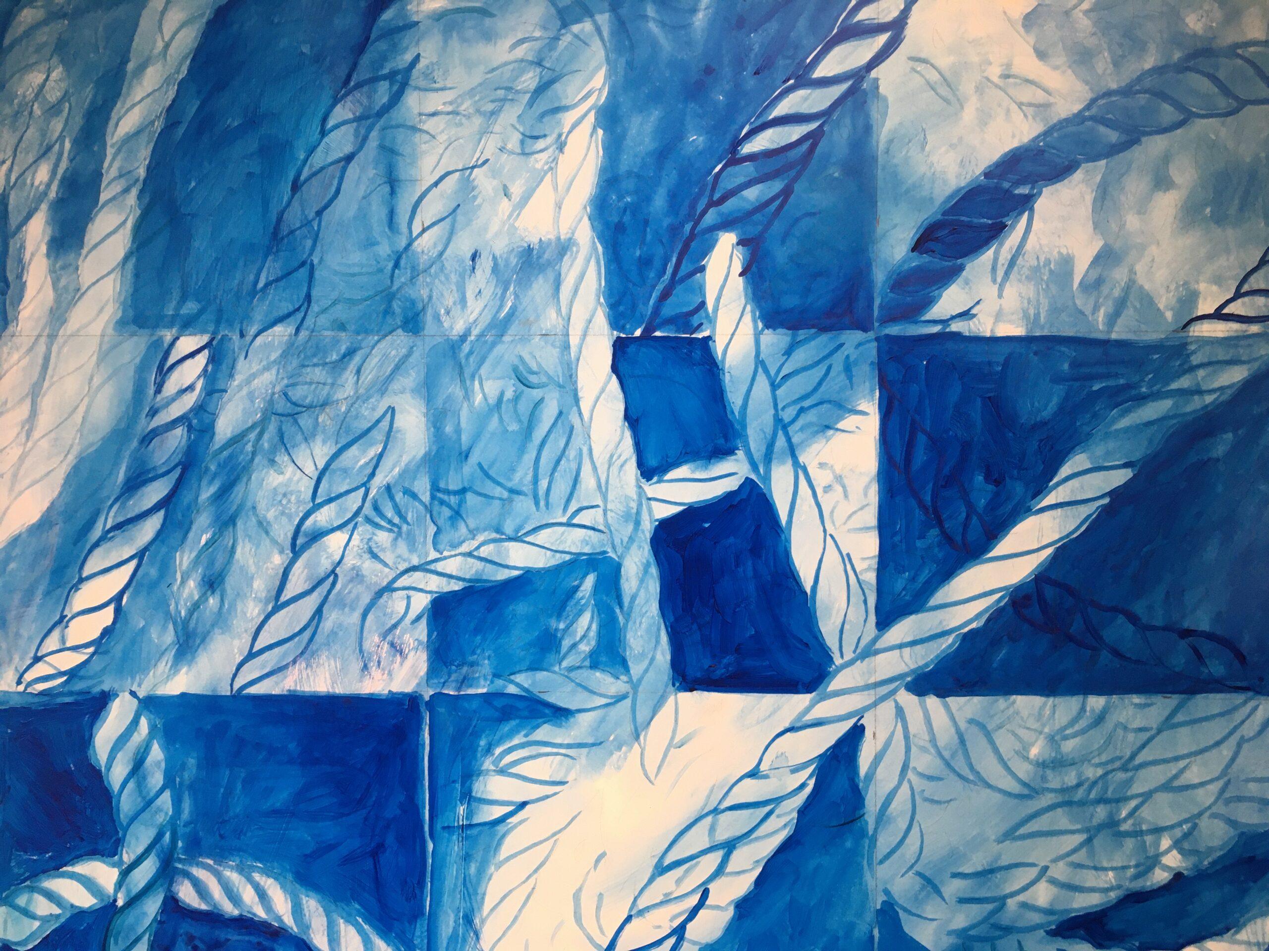 Leslie Heffron's Paintings, Lobsterman's Lines