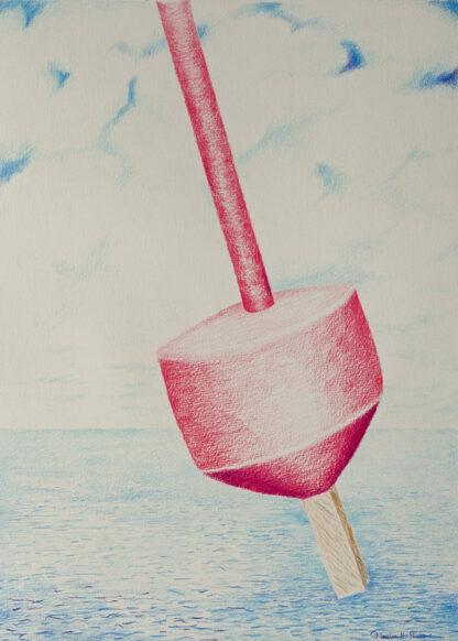 Paintings by Leslie, Niles Beach Buoy