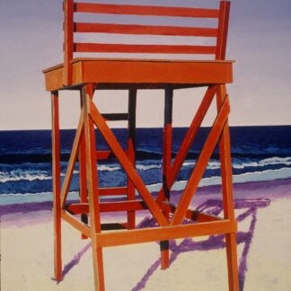 Paintings by Leslie Heffron, Singing Beach Guard Chair