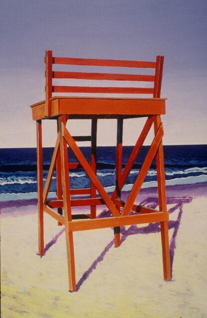 Paintings by Leslie Heffron, Singing Beach Guard Chair