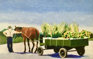 "Paintings by Leslie Heffron, ""Kutztown Produce Auction"""