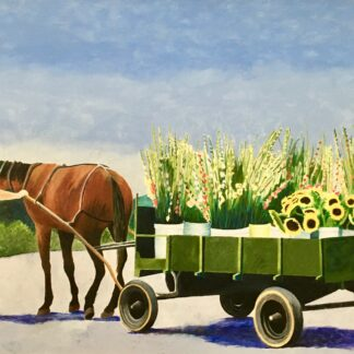 "Paintings by Leslie Heffron, ""Kutztown Produce Auction"""